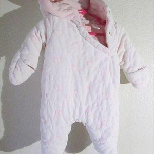 Newborn Baby Bundle up warm winter bunting suit size 0-3 months